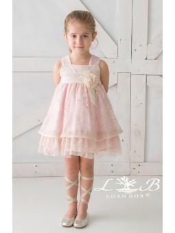 Vestido de encaje rosa LOAN...