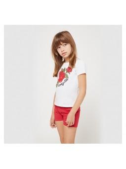 Camiseta estampada rosas...