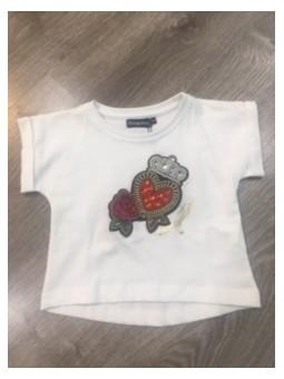 Camiseta estampada corazón...