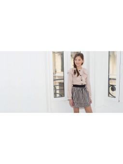 Falda rayas rosa/negro EVE...