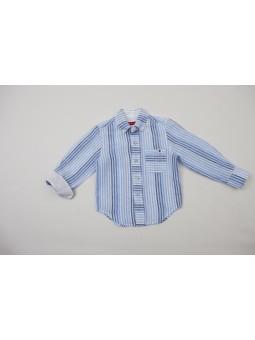 Camisa lino a rayas PAN CON...