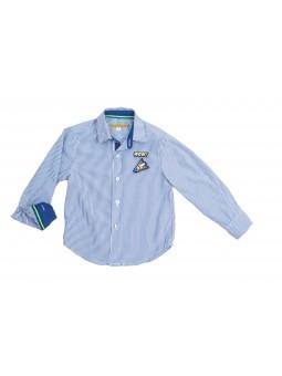 Camisa rayas azul y blanco...