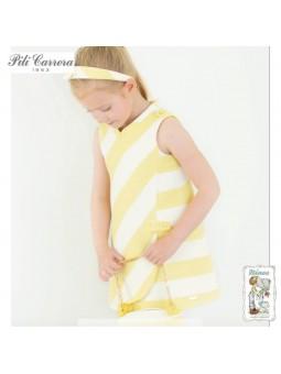 Vestido de rayas amarillo...
