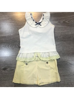 Conjunto de top y short...