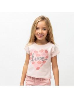 Camiseta love rosa CONGUITOS