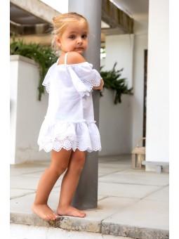 Vestido blanco flora MARI CRUZ