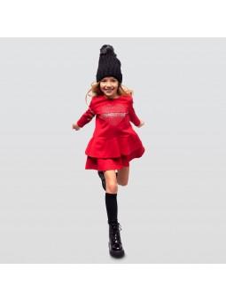 Vestido rojo strass CONGUITOS