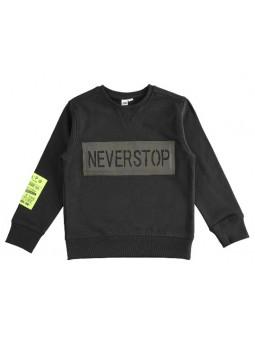 Sudadera negra Neverstop IDO