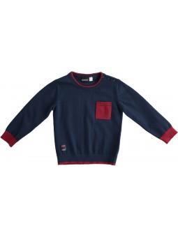 Suéter bolsillo contraste IDO